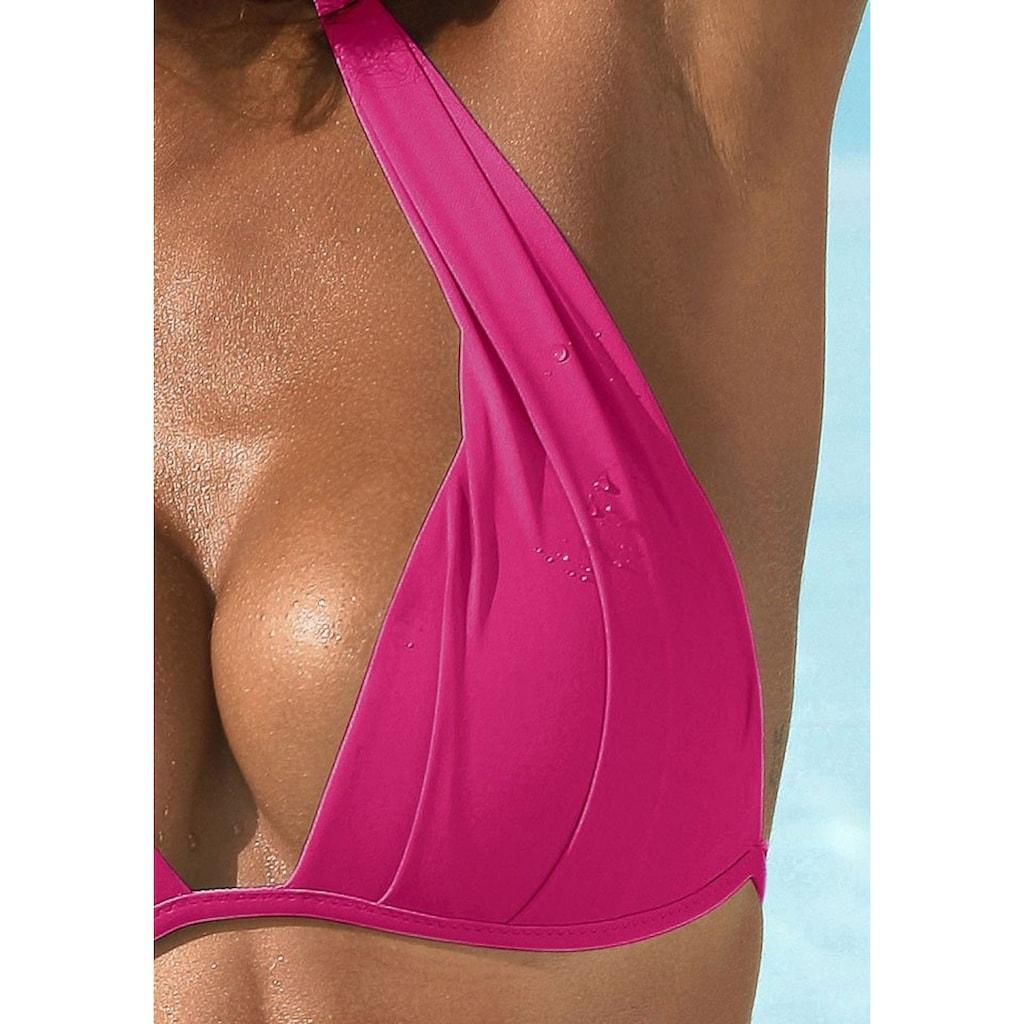LASCANA Triangel-Bikini, mit Push-Up-Effekt