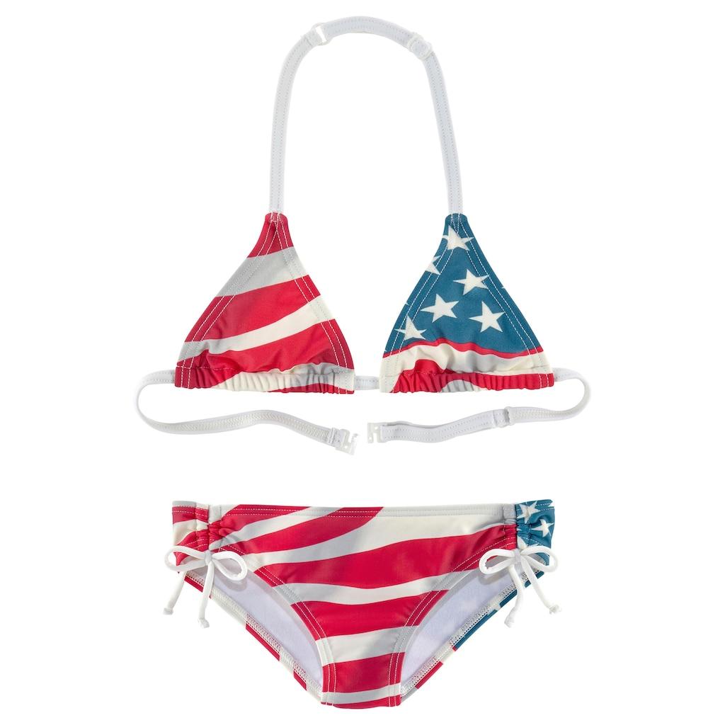 Homeboy Triangel-Bikini, im Design der USA-Flagge