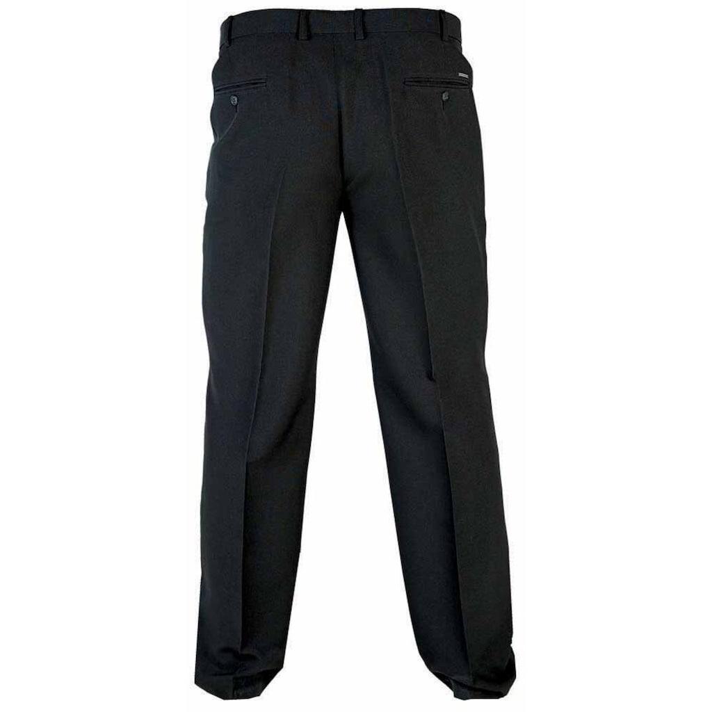 Duke Clothing Bügelfaltenhose »Herren Kingsize Max D555 Hose verstellbarer Bund«
