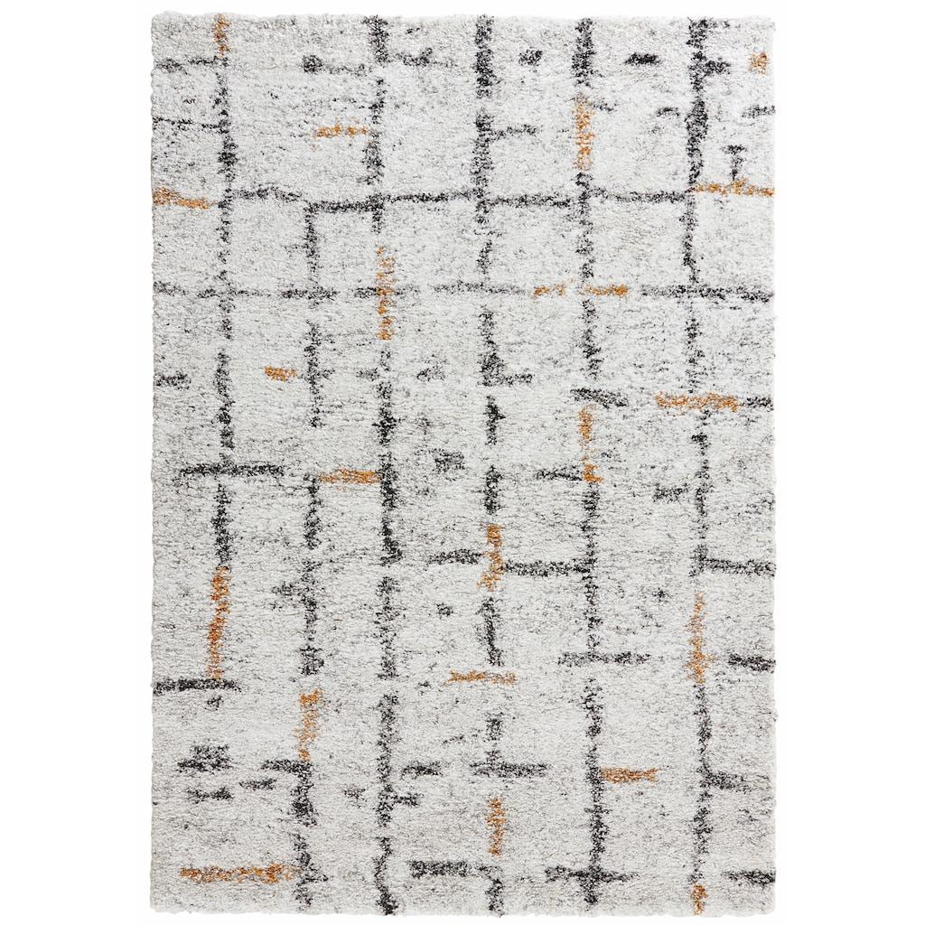 MINT RUGS Hochflor-Teppich »Grid«, rechteckig, 30 mm Höhe, Wohnzimmer