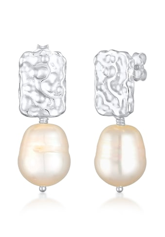 Elli Paar Ohrhänger »Hänger Barock Süßwasserperle Organic 925 Silber« kaufen