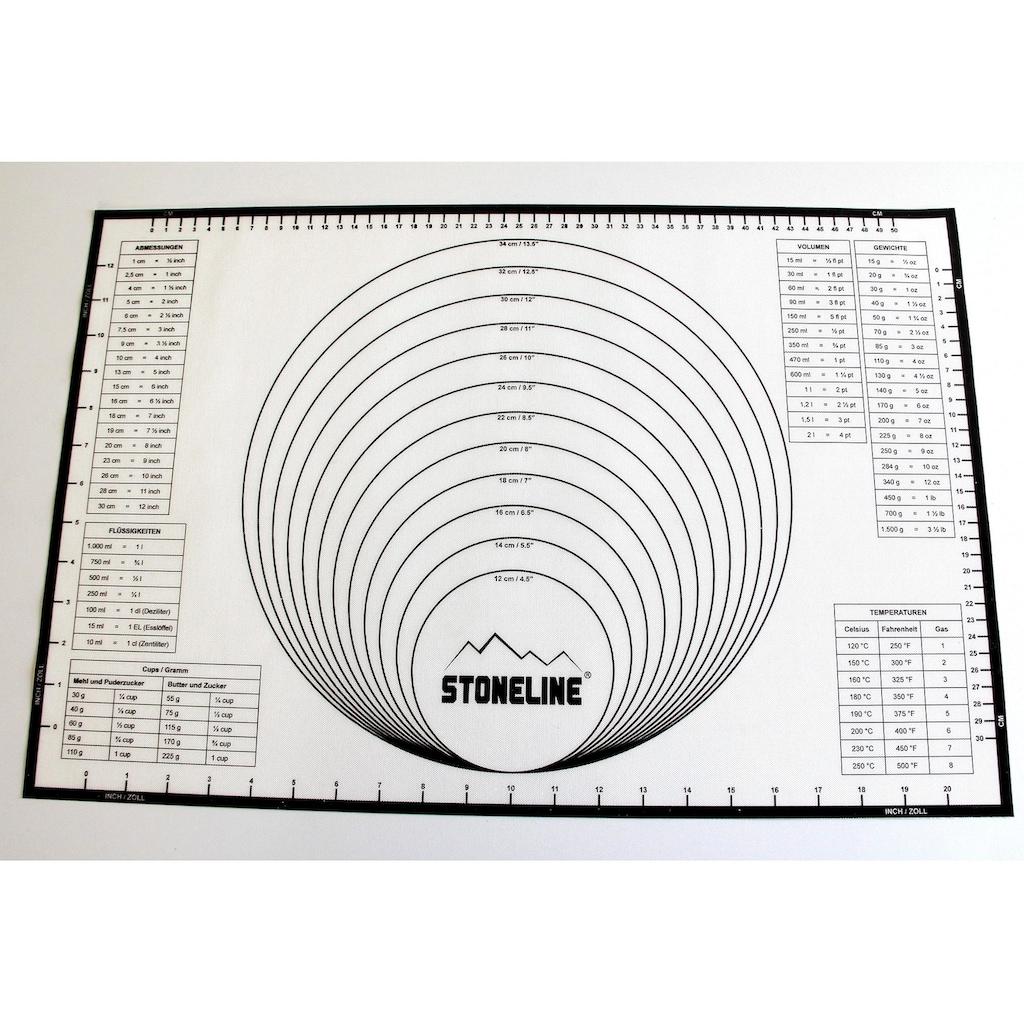 STONELINE Backmatte »2in1«, (1 tlg.), handelsüblichen Backbleche geeignet