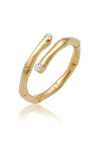 Elli Fingerring »Bambus Kristalle offen 925 Silber« kaufen