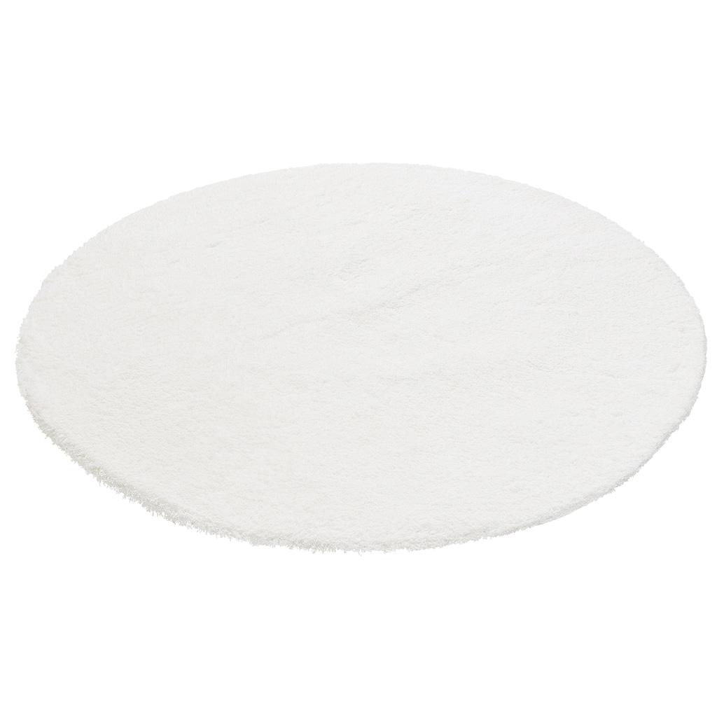 my home Hochflor-Teppich »Magong«, rund, 25 mm Höhe, Besonders weich durch Microfaser, Wohnzimmer