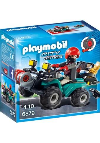 """Playmobil® Konstruktions - Spielset """"Ganoven - Quad mit Seilwinde (6879), City Action"""", Kunststoff kaufen"""