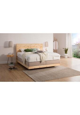 ADA premium Boxspringbett »Chalet«, Grand Comfort TF 1000 PM, Zirbenholz natur geölt kaufen