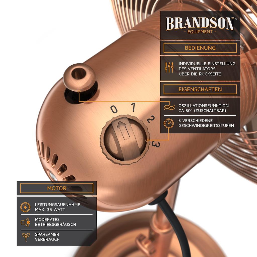 Brandson Standventilator mit 30cm Ø & höhenverstellbarem Standfuß