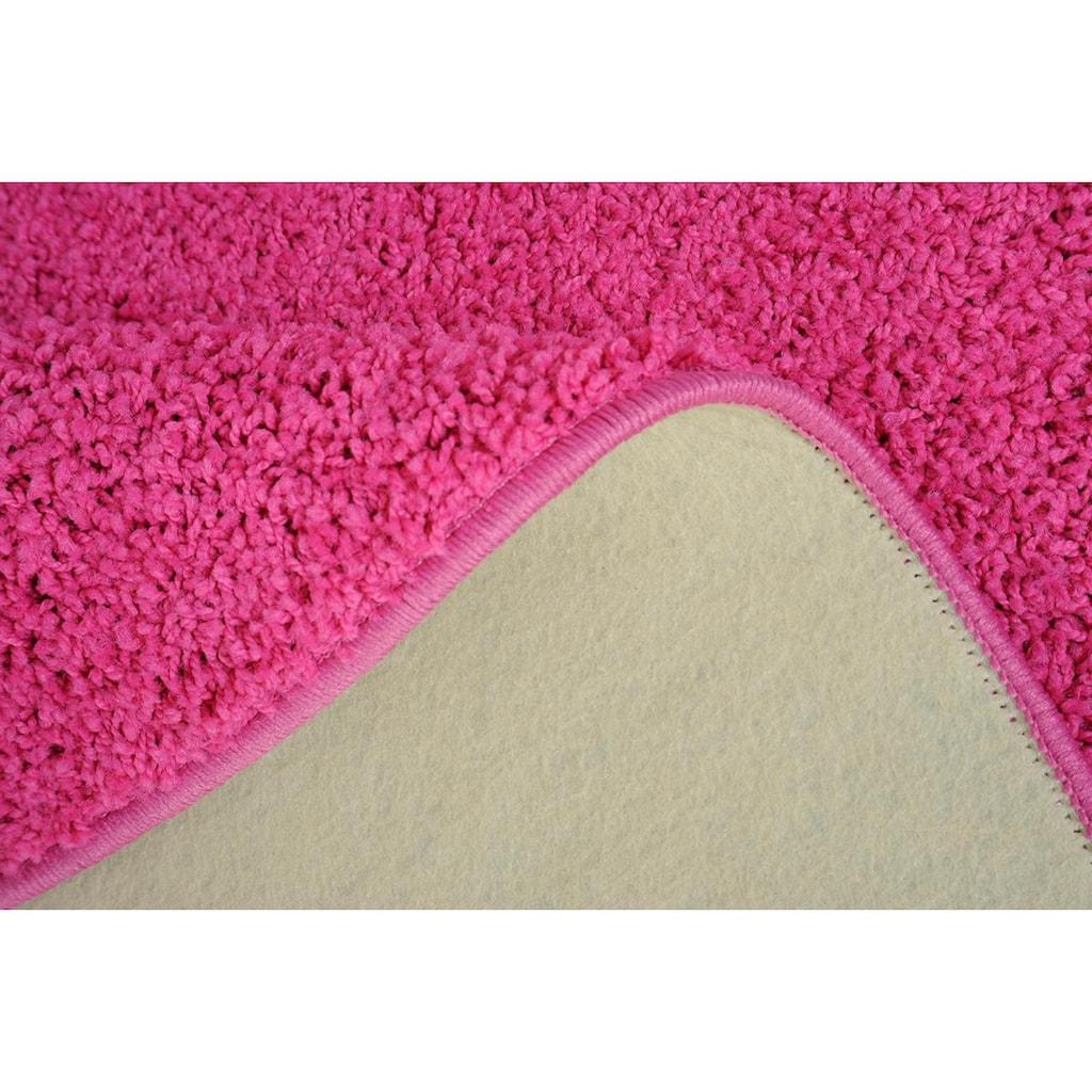 Living Line Teppich »Shaggy Pulpo«, rund, 22 mm Höhe, Shaggy Teppich, Wohnzimmer
