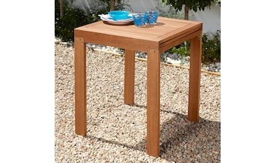 MERXX Gartentisch »Borkum«, Eukalyptusholz, 70x130 cm, braun kaufen