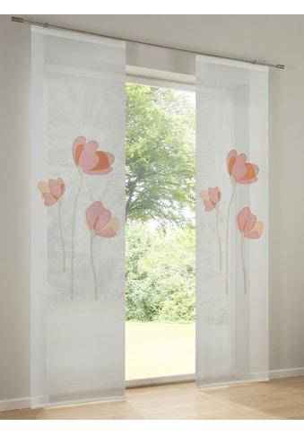 Schiebevorhang mit Blumenmotiv kaufen