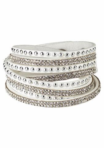 J.Jayz Armband »zum Wickeln, Nieten«, (1 tlg.), mit Strassteinen kaufen