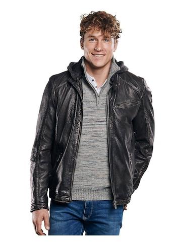 Engbers Lederjacke, mit Strickkapuze kaufen