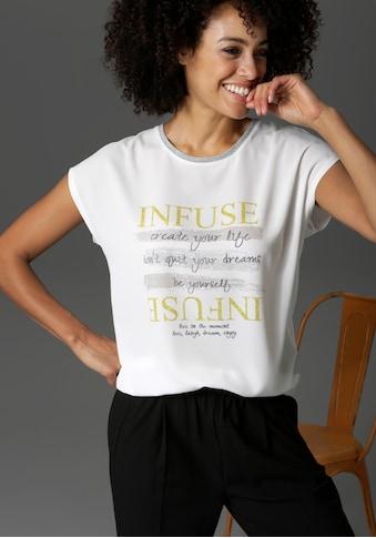Aniston CASUAL T-Shirt, mit Schriftzug - NEUE KOLLEKTION kaufen