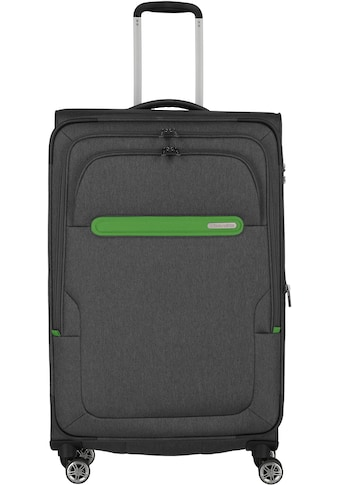 travelite Weichgepäck-Trolley »Madeira, 77 cm, anthrazit/grün«, 4 Rollen, mit... kaufen