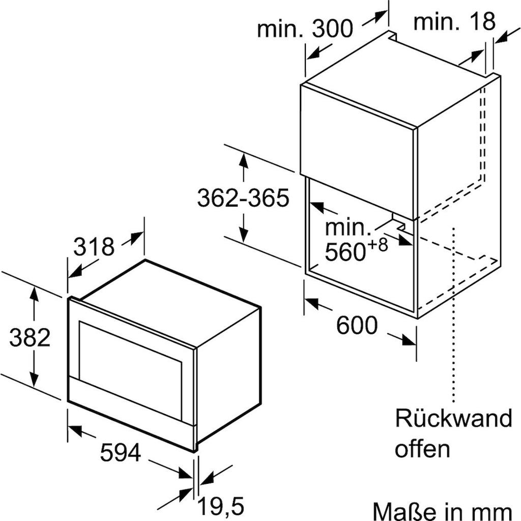 SIEMENS Einbau-Mikrowelle »BF634LG«, Mikrowelle, 900 W, iQ700
