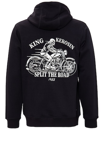 KingKerosin Sweatjacke »Split the Road«, mit Kordelzug kaufen