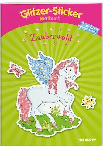 Buch »Glitzer-Sticker Malbuch Zauberwald / Corina Beurenmeister« kaufen