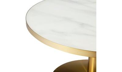 Leonique Couchtisch »Janelle«, Tischplatte aus Glas in Marmoroptik, Gestell aus Edelstahl kaufen