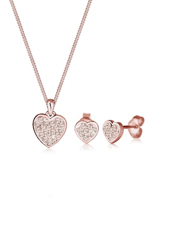 Elli Schmuckset »Herz Kristalle 925 Silber Amour« kaufen