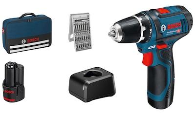 Bosch Professional Powertools Akku-Schrauber »GSR 12V-15 Professional«, mit 2 Akkus... kaufen