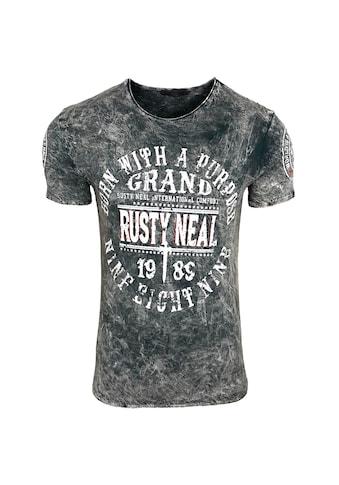 Rusty Neal T-Shirt mit coolem Logo-Branding kaufen