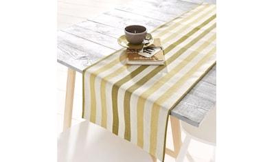 HOSSNER - HOMECOLLECTION Tischläufer »Streifen«, (1 St.) kaufen