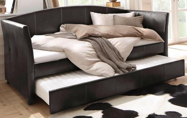 schwarzer Tagesbett