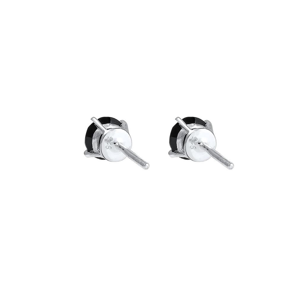 Kuzzoi Paar Ohrstecker »Basic Stecker Geo Kristalle 925 Silber«
