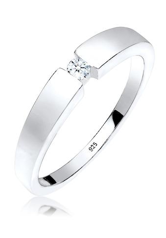 Elli Diamantring »Klassisch Bandring Diamant 0.06 ct. 925 Silber« kaufen