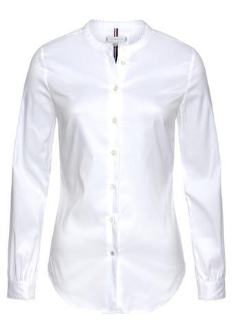 TOMMY HILFIGER Klassische Bluse »SALLY TRIM SHIRT LS W1« kaufen