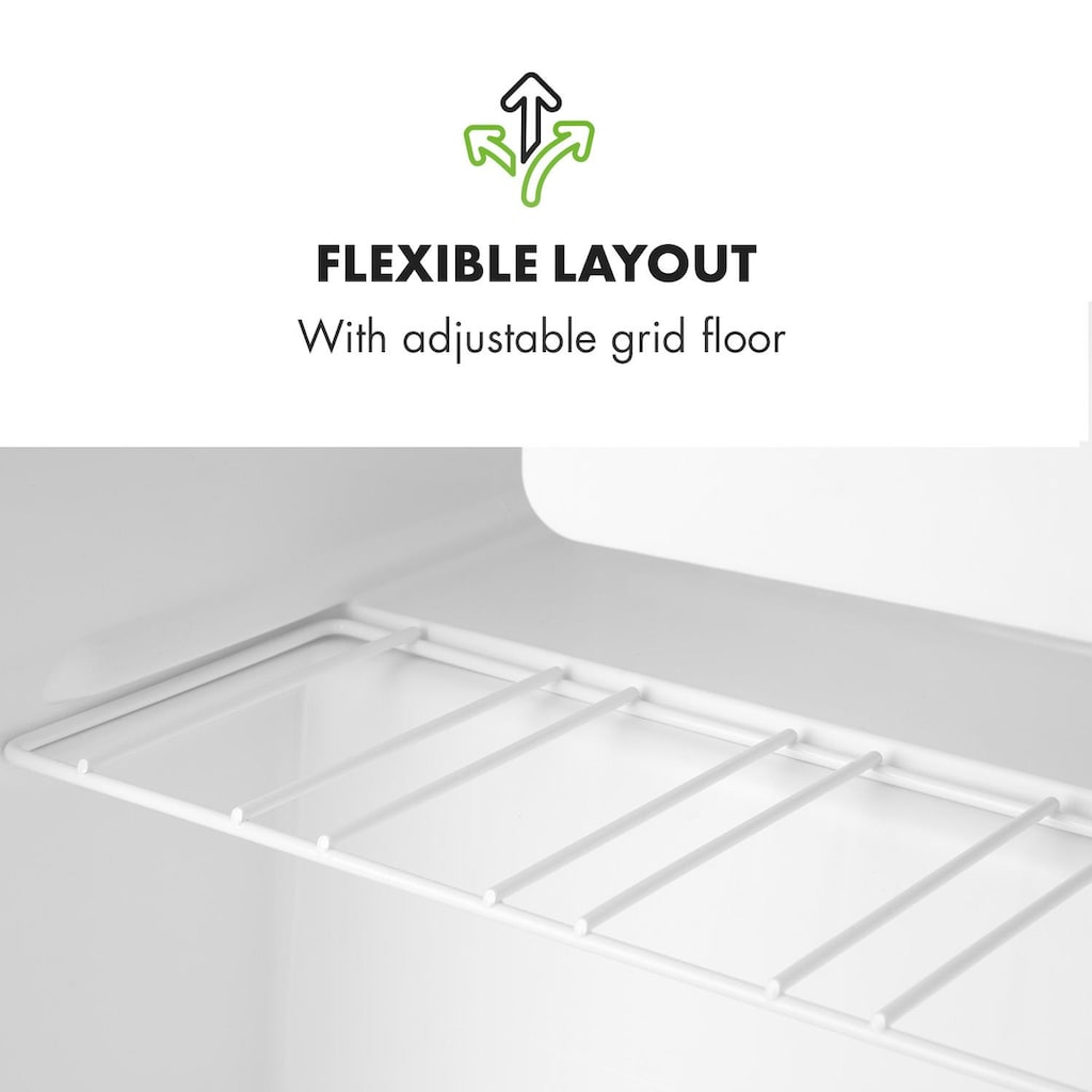 Klarstein Mini-Kühlschrank mit Gefrierfach A++ 46 Liter 41dB schwarz