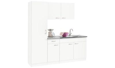 wiho Küchen Küchenblock »Kiel«, Breite 190 cm mit 28 mm starker Arbeitsplatte, Tiefe 50 cm kaufen