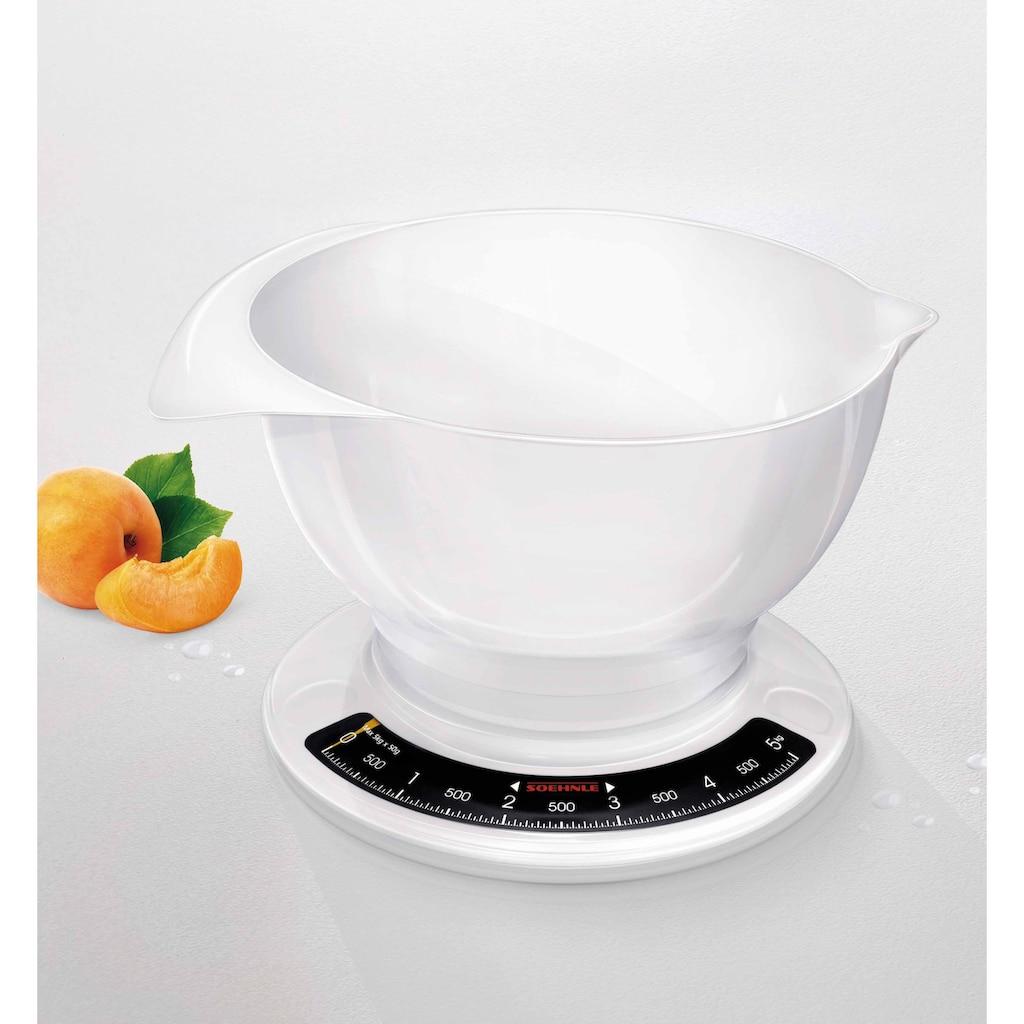 Soehnle Küchenwaage »Culina Pro«, (2 tlg.), mit großer Rührschüssel