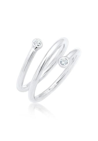 Elli Fingerring »Wickelring Geo Kristalle 925er Silber« kaufen