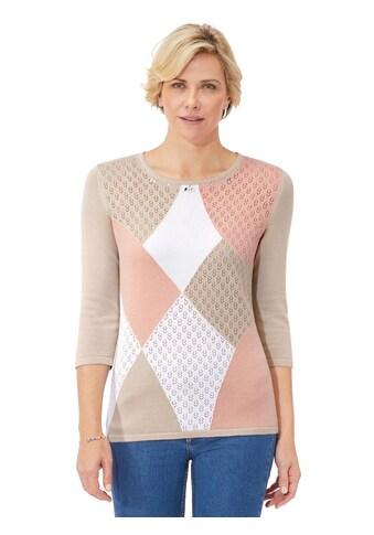 Classic Pullover mit Intarsien -  und Ajourmuster vorne kaufen