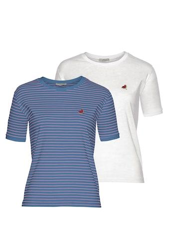 LTB T-Shirt »MALESO«, mit süßer Stickerei auf der Brust kaufen