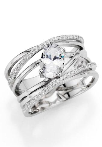 Firetti Silberring »Bänder, mehrreihig, verschlungen«, mit Zirkonia kaufen