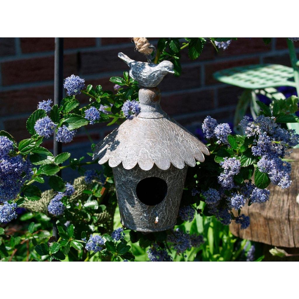 Ambiente Haus Vogelhaus, zum hängen aus Metall - rund Outdoor geeignet