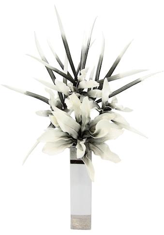 I.GE.A. Kunstblume »Soft-Blumenarrangement«, Keramikvase kaufen
