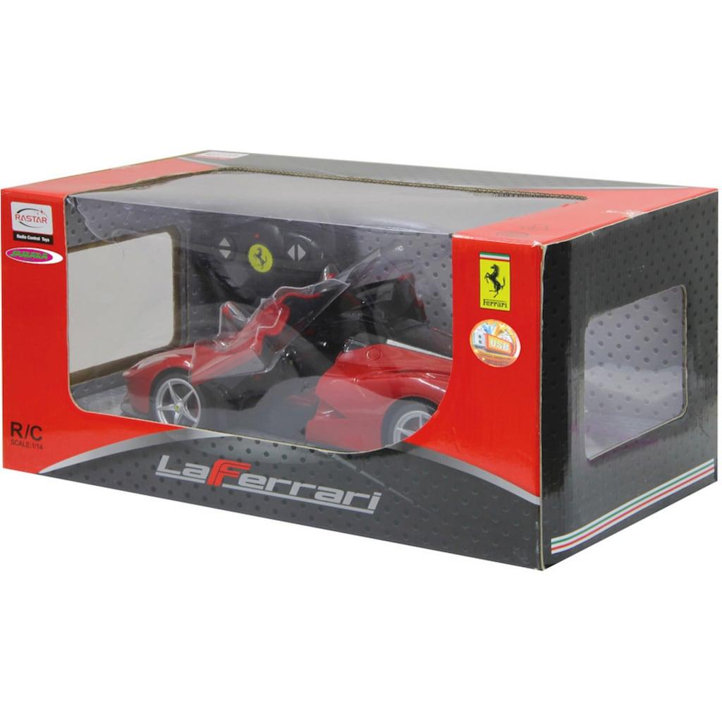Jamara RC-Auto »Ferrari LaFerrari 40MHz 1:14 rot«, mit LED Beleuchtung