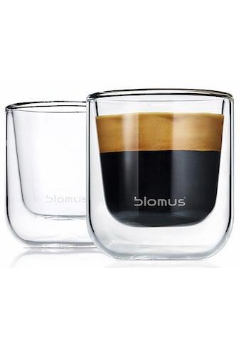 BLOMUS Espressoglas »NERO«, (Set, 2 tlg.), Doppelwandig kaufen