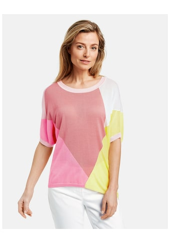 GERRY WEBER Strick, Shirt, Top, Body »1/2 Arm Pullover mit Patchoptik« kaufen
