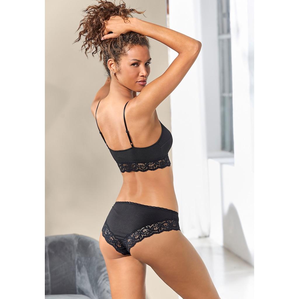 LASCANA Bikinislip, (2 St.), aus modischer Ripp-Qualität
