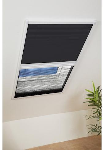 hecht international Insektenschutz-Dachfenster-Rollo, weiß/schwarz, BxH: 110x160 cm kaufen