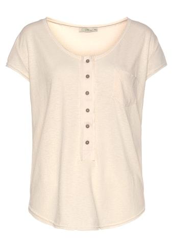 LTB Kurzarmshirt »ROMIWE«, mit halber Knopfleiste kaufen