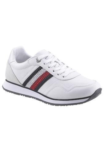 TOMMY HILFIGER Sneaker »TOMMY LEATHER LOW RUNNER«, mit weichem Schaftrand kaufen