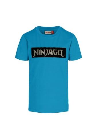 """LEGO® Wear Kurzarmshirt »LWTOBIAS 303«, """"mit Ninjago-Schriftzug aus Wendepailletten"""" kaufen"""