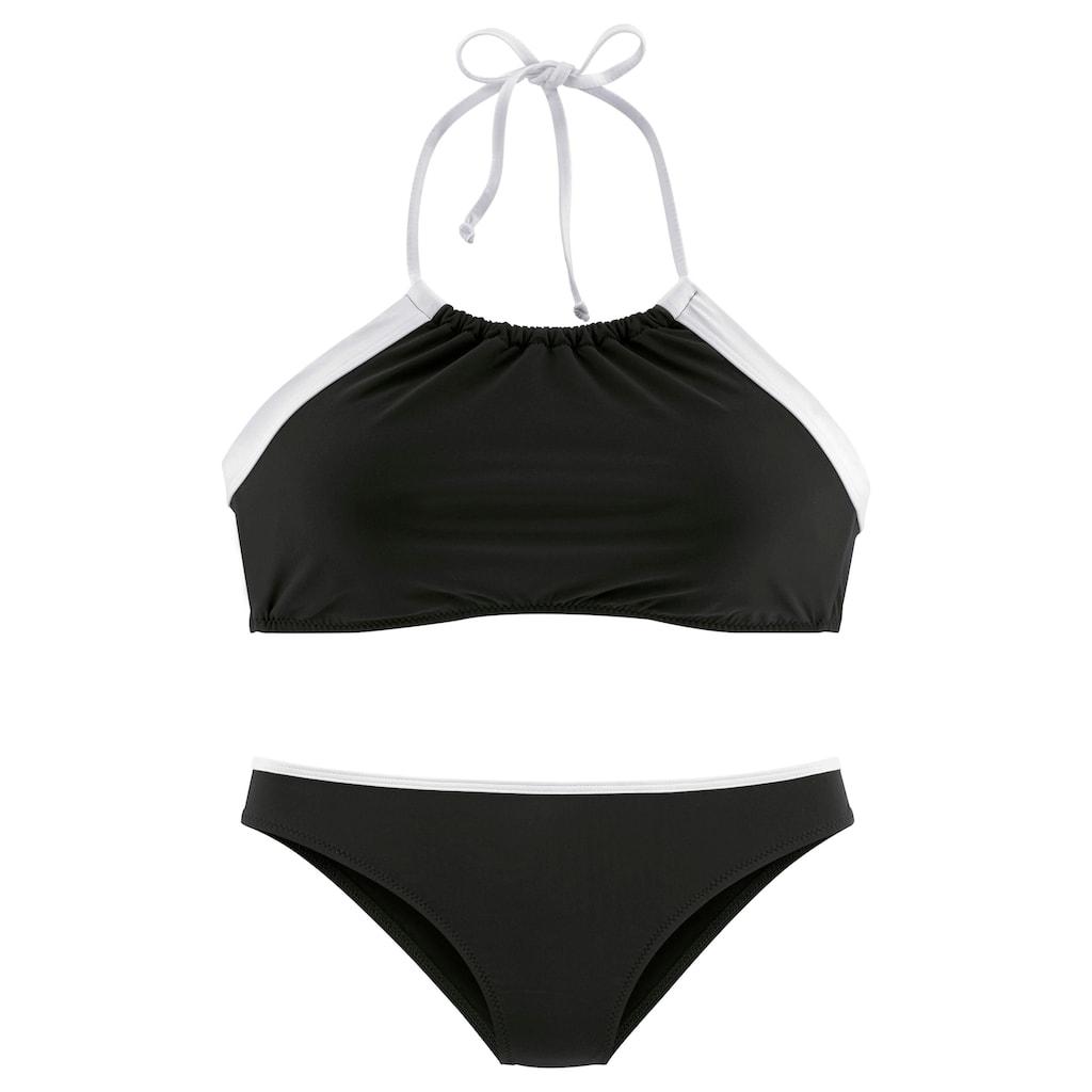 LASCANA Bustier-Bikini, mit kontrastfarbener Einfassung