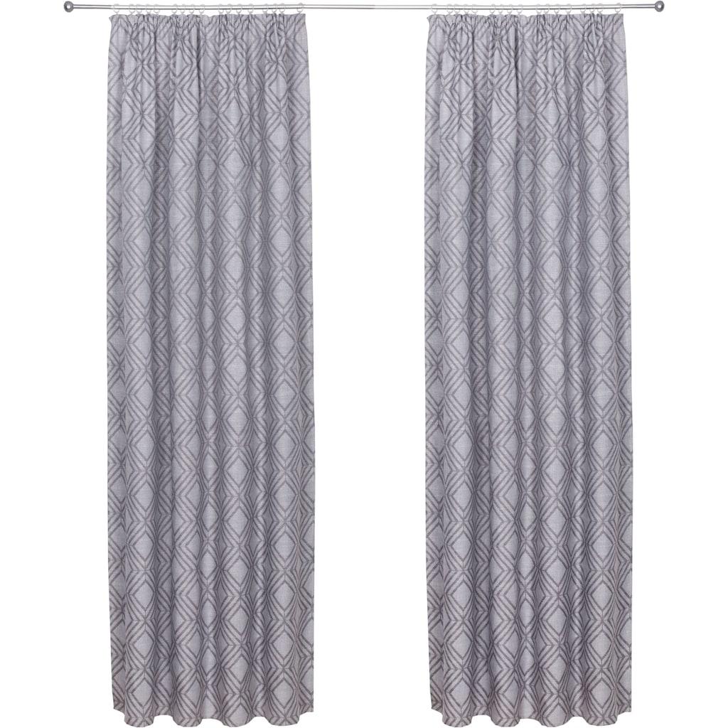 andas Vorhang »Finn«, blickdicht, hochwertiger Jacquard Stoff mit Rautenmuster