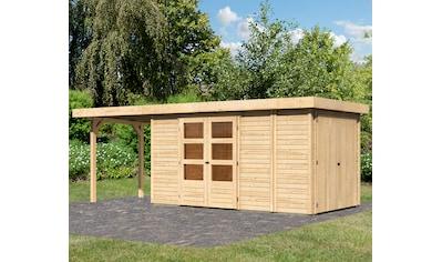 KONIFERA Set: Gartenhaus »Ostsee 5«, BxT: 629x238 cm, mit Anbauschrank und Anbaudach kaufen